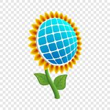 Sun flower energy icon, realistic style royalty free illustration