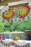 Sun flower liked balloon Royalty Free Stock Photo
