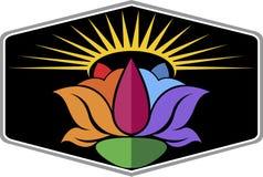Sun flower logo Stock Photos