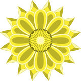 Sun flower mandala Royalty Free Stock Photography