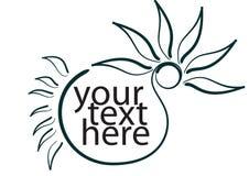 Sun flower shape. Sun flower design text place Stock Photo