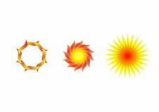 Sun Flower, Sun Logo. In set Stock Image