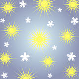 Sun and flowers Royalty Free Stock Photo