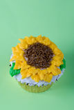 Sun flowers cupcake Royalty Free Stock Photography