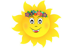 Sun with flowers Royalty Free Stock Photography