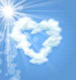 Sun Fluffy Cloud Shape Heart Love Symbol Stock Photography