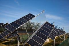Green sun electricity Stock Photos