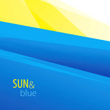 Sun & fondo blu Fotografie Stock