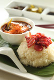 An sun food. Delicious chinese food serve with white blackground Royalty Free Stock Photo