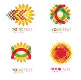 Sun forms logos Royalty Free Stock Photography