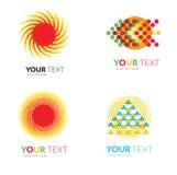 Sun forms logos Stock Image