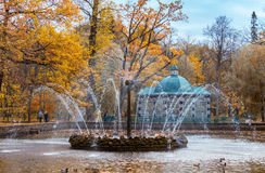 The Sun fountain in lower park Royalty Free Stock Photography