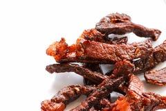 Sun-fried meat closeup detail.  Stock Image