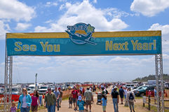 Sun and Fun Air Show. LAKELAND, FLORIDA,UNITED STATES - APRIL 12, 2008: SUN AND FUN AIR SHOW. Visitors arriving at Lakeland Linder International Airport for the Royalty Free Stock Images