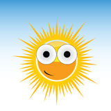 Sun funny with big eye vector Stock Photography