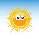 Sun funny with eye vector Stock Photography
