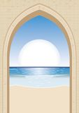 Sun gate. Illustration with copy space Royalty Free Stock Photos
