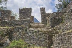 Sun Gate, Machu Picchu. Stones steps leading to Sun Gate, Machu Picchu, Peru Stock Photos