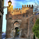 Sun gate square in Toledo (Spain). Front detail of Sun gate square in Toledo (Spain royalty free stock image
