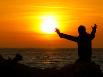 Sun gazing Royalty Free Stock Images