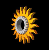 Sun gear logo Royalty Free Stock Images