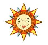 Sun-Gesicht Stockfotos