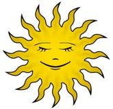 Sun-Gesicht Lizenzfreie Stockfotos