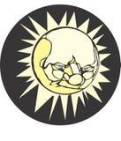 Sun-Gesicht Stockbild