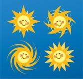 Sun-glückliches Gesicht Lizenzfreie Stockfotos