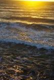 Sun-Glühen über der Nordsee stockfoto