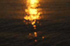Sun glare on the water, beautiful background Royalty Free Stock Photography