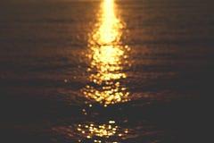 Sun glare on the water, beautiful background Stock Photos