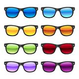 Sun glases set Stock Photo