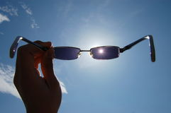 Sun glass Royalty Free Stock Photos