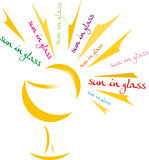 Sun in glass Stock Photo