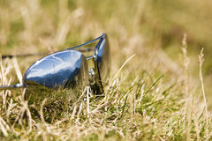 Sun Glass Mountain. Reflection on grass in a sunny day - Austria 2007 Stock Photography