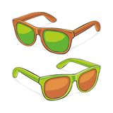 Sun glasses. Fully editable illustration of sun glasses Royalty Free Stock Photo