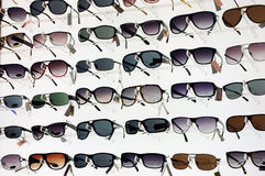 Sun glasses. Various of sun glasses with white background Royalty Free Stock Photos