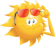 Sun with glasses. Smiling sun with cool glasses Royalty Free Stock Photography