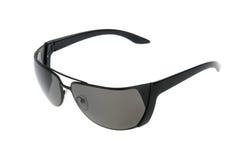 Sun glasses. Stylish female sun glasses to a fashionable black frame. Isolated on white stock photography
