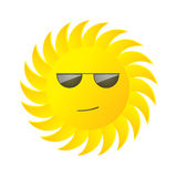 Sun with glasses Royalty Free Stock Photo