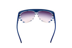 Sun glasses blue isolated over the white background Stock Photo