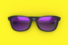 Sun glasses on color background Stock Photography
