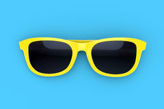 Sun glasses on color background Royalty Free Stock Photo