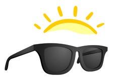 Sun glasses. Creative design of sun glasses Stock Photos