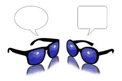 Sun glasses dialogue by night Royalty Free Stock Image