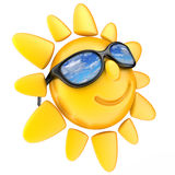 Sun and glasses Stock Image