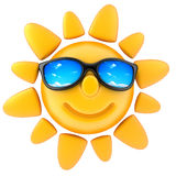 Sun and glasses Stock Photos