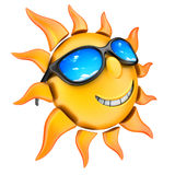 Sun and glasses Royalty Free Stock Photo