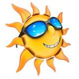 Sun and glasses vector illustration